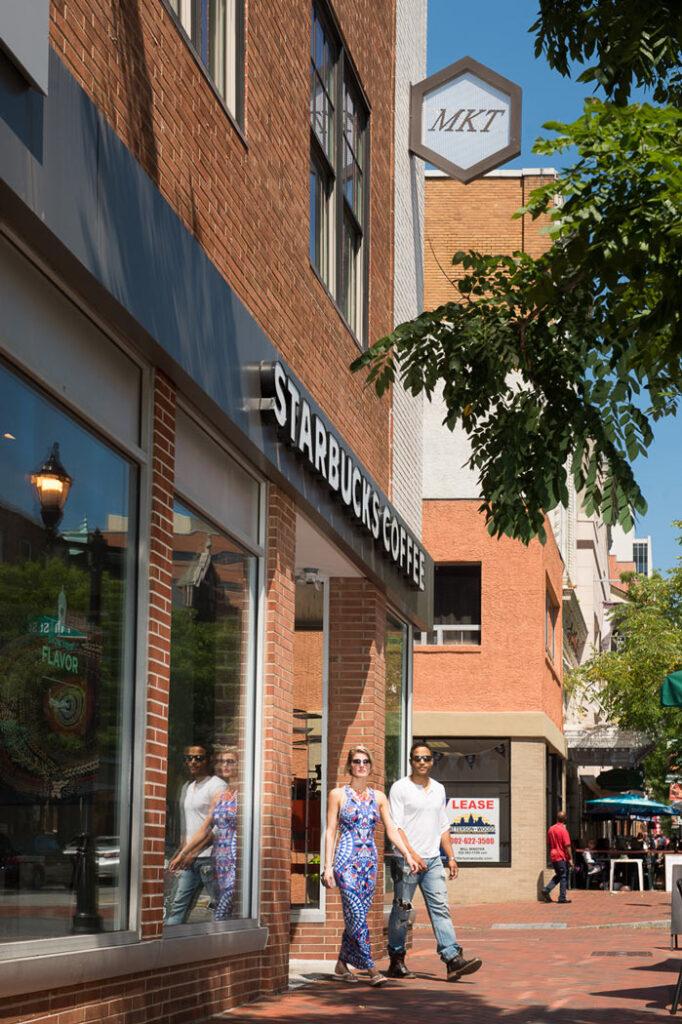 ResideMKT apartments above Starbucks in Wilmington, DE