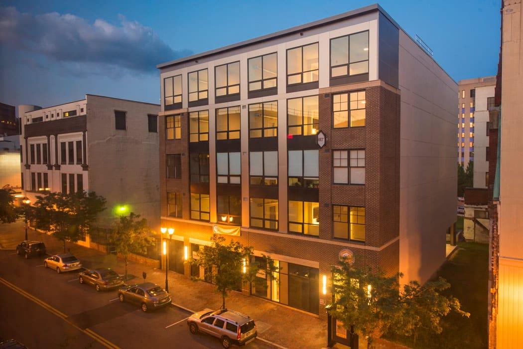Exterior of Reside MKT in downtown Wilmington, DE