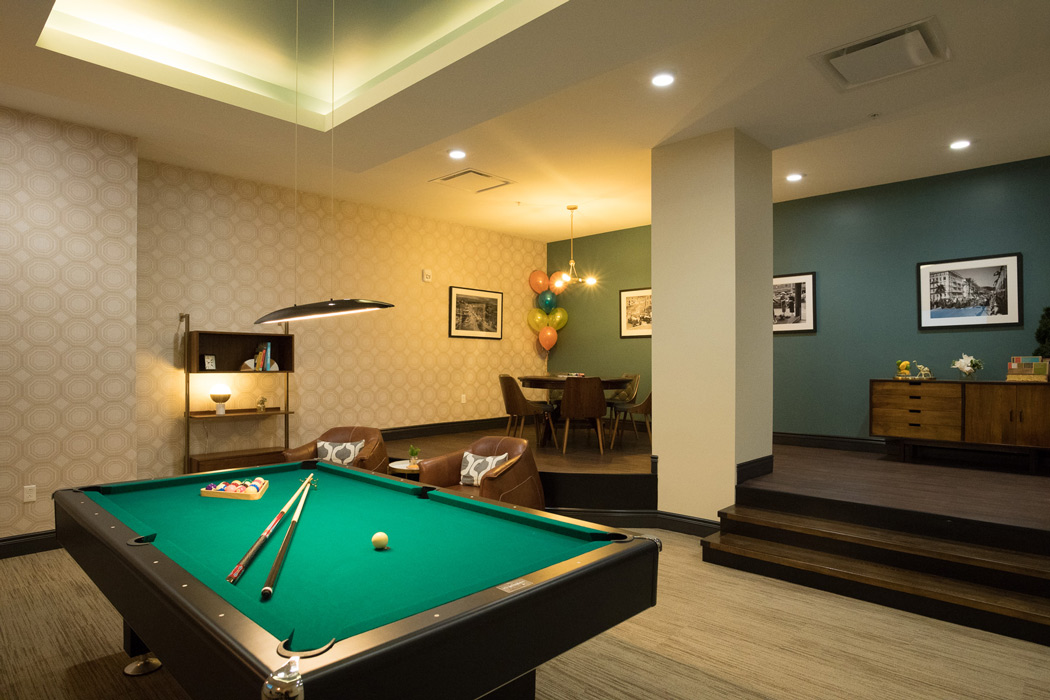 MKTPlace game room with pool table