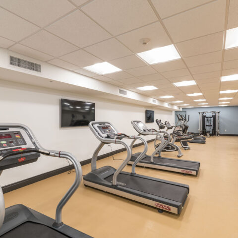 Fully equipped gym in MKT Place apartments