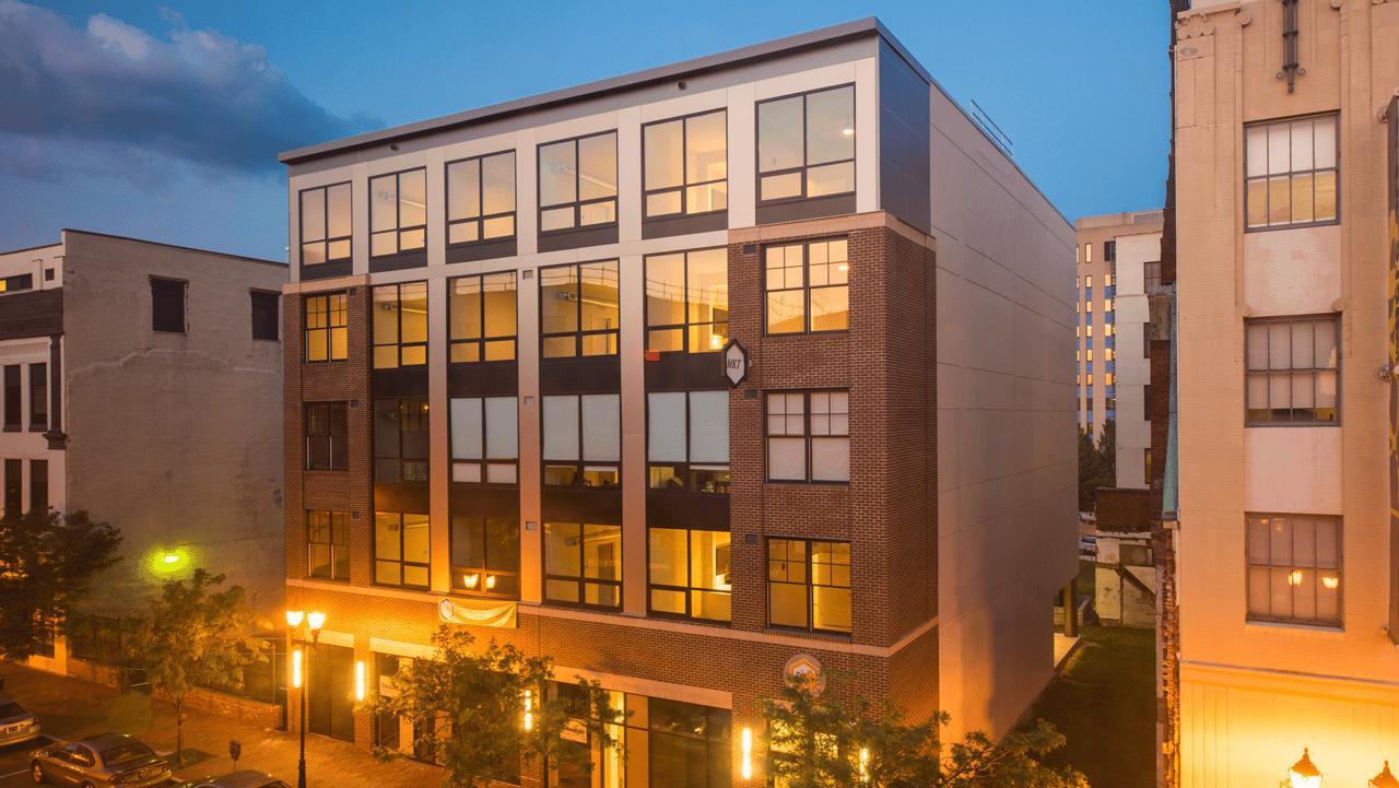 Exterior of 608 MKT apartments in Wilmington