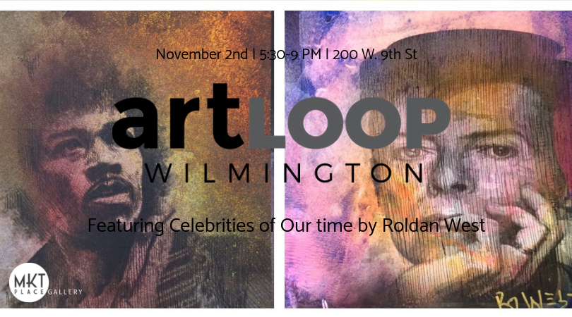 november art loop wilmington invitation